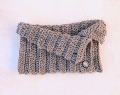 Crocheted Ribbed Button Up Cowl For Men and Women - creative jewish mom