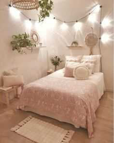 33 Most Adorable Boho Bedroom Ideas < moes. 33 Most Adorable Boho Bedroom Ideas < moeshouse Cute Bedroom Ideas, Cute Room Decor, Girl Bedroom Designs, Room Decor Bedroom, Bedroom Furniture, Ikea Bedroom, Bedroom Inspo, Bedroom Inspiration, Girls Bedroom