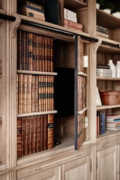 Delightful countryside getaway in England with inviting interiors: Mill House Miller House, Hidden Spaces, Hidden Rooms, Fresh Farmhouse, Home Libraries, House Drawing, Drawing Room, Secret Rooms, Hidden Storage