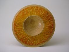 Flame bowl - English Ash    Woodturning Expert Gallery Pieces