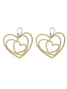 ORECCHINI CON CUORI DORATI  Orecchini in argento 925 bagnati in oro giallo con pendenti a forma di cuore. pendente mm 5,50 x 4,50.  Prices: $102.04