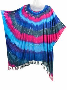 b911305f06 Items similar to Ship from US to US only~ Colorful Tie Dye Batik Hippie  Boho Women Caftan Kaftan Tunic Top Rayon Beach Cover up Plus Size 1x 2x 3x  4x 5x ...