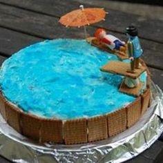"""Gâteau piscine hors sol """"petits beurre"""""""