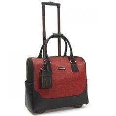 "Cabrelli 15.4"" Rolling Laptop Bag - Megan Meadow"