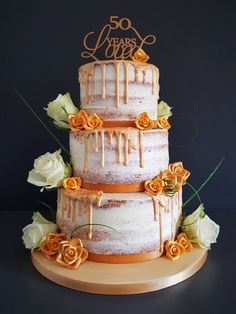 Golden Wedding Anniversary Cake Truly made for their occasion so they know you had only them in mind. Coloured in shades of gold to represent Golden Wedding Anniversary, Anniversary Cakes, Order Cake, Shades Of Gold, How To Make Cake, Cake Designs, Flower Decorations, Brighton, Unique