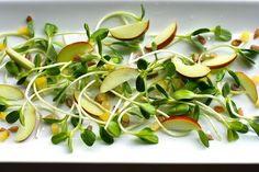 The Enchanted Cook: Sunflower Sprout Salad with Preserved Lemons and Jujubes
