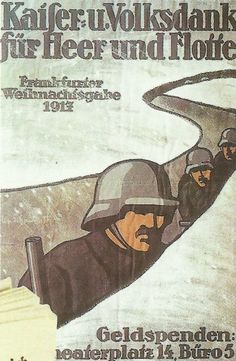 German poster WWI asks citizens to  give for the men at the front.