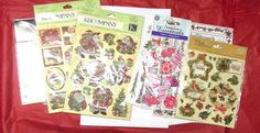 Christmas Scrapbooking stickers lot Santa Claus Ornaments Dimensional glitter  #KCompanySandylionProvoCraft #DimensionalMixed