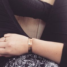 Black, white and gold #handmade #bracelet #metalstamping