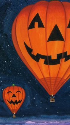 Pumpkin lights Hot air balloon