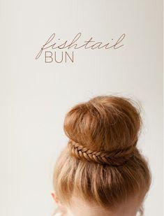 Elegant Fishtail Bun How To via oncewed.com