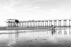 Surfers At La Jolla Shores Beach Black And White Fine Art Photography Prints For Sale By Priya Ghose