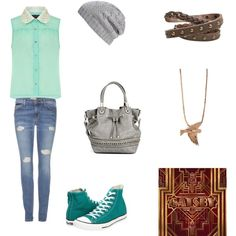 middle school outfit but I don't usally carry around a purse.