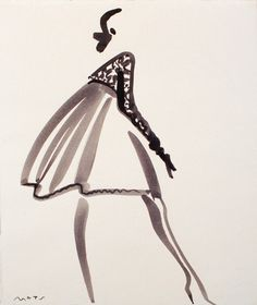 Fashion Illustration by Mats Gustafson (Swedish, 1951