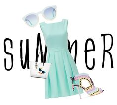 """""""Untitled #7"""" by jazjean ❤ liked on Polyvore featuring Kate Spade, Sophia Webster, Karl Lagerfeld and summersandals"""