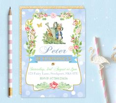 A personal favourite from my Etsy shop https://www.etsy.com/uk/listing/500089621/printable-personalised-peter-rabbit