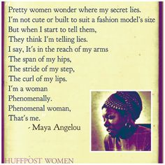 """""""Phenomenal woman"""" 21 Quotes On Womanhood By Female Authors That Totally Nailed It Great Quotes, Quotes To Live By, Me Quotes, Inspirational Quotes, Uplifting Quotes, The Words, Divas, Happy International Women's Day, Ladies Day"""