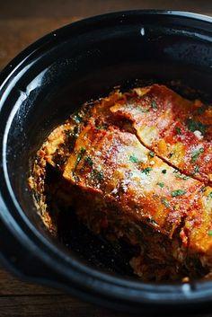 Veggie Crock Pot Lasagna | 21 Vegetarian Dump Dinners You Can Make In A Crock Pot
