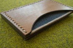 Gregoire Texier White Oak selvedge denim and leather wallet