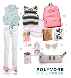 """""""PoLyVoRe the ExPLoReR"""" by elaandres on Polyvore featuring Vans, Abercrombie & Fitch, Converse, Pusheen, backpacks, contestentry and PVStyleInsiderContest"""