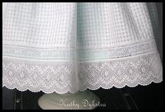 Kathy Dykstra - Heirloom Sewing - lovely hem treatment!
