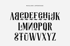 Moalang is a decorative, uppercase-only typeface designed by Agga Swist'blnk, a font designer based in Indonesia. Lettering, Typography Design, Logo Design, Commercial Fonts, Great Fonts, Letter Form, Creative Words, Lowercase A, Design Reference
