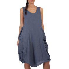 Marlene Dress | Indigo Blue by Lin Nature on Brands Exclusive
