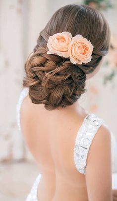 Beautiful up do.