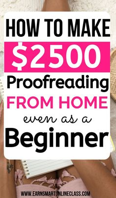 Proofreading is such a marketable skill! Learn how to become a proofreader here so you can start earning money from home. Work From Home Careers, Online Jobs From Home, Work From Home Opportunities, Work From Home Tips, Ways To Earn Money, Earn Money From Home, Way To Make Money, Online Surveys For Money, Earn Money Online