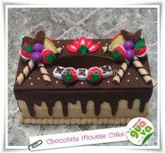 Kotak Tisu Flanel - Chocolate Mousse Cake