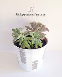 Make your decor | Scallop patterned plant pot