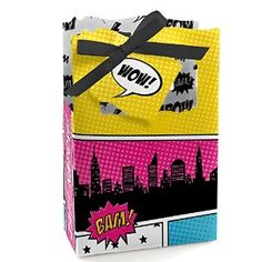 Amazon.com: BAM! Girl Superhero - Party Favor Boxes - Set of 12: Toys & Games