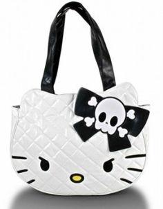 57b8de04c670 Loungefly Hello Kitty Tote Bag White Skull Purse NEW Hello Kitty Handbags