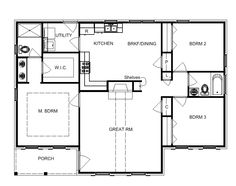 3 Bedroom House Plans For Single Level Homes