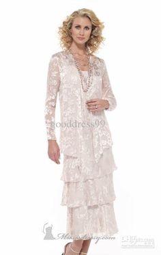 468e6825ca4 Wholesale Stunning Mother of the Bride Dress Sheath Column Spaghetti strap  Lace Tea length Prom