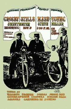 Neil Young concert posters | Concert poster for Crosby Stills Nash and Neil Young, plus Steve ...