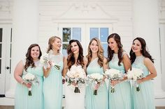Mint bridesmaid dresses always feel so fresh! Thank you to @nataliegorecasey  for sharing a pretty wedding photo with us! Tap the link in our profile to shop their dresses in mint and a variety of other colors. Tag your photos with #DBMaids for a chance for your bridal party to be featured.  Photo via @lizannephoto