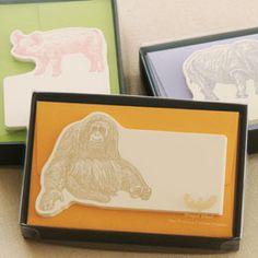 ウイングド・ウィール|No.602 カード・封筒セット|一言メッセージカード。自然と共に生きる動物たち。カードの素材には特に厚みのあるコットンペーパーを使用。また活版印刷で丁寧にしっかりと印刷。
