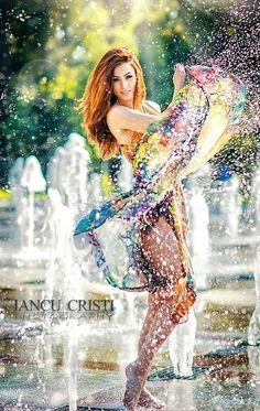Untitled by iancu cristi on 500px // photography, water, colour, inspiration, pretty, snapshot, movement, fashion, elegant, splash, photo, model, dance