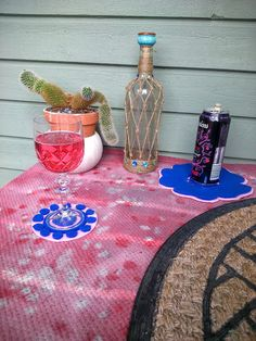 M'made Diy : Spray-painted outdoor rug