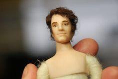 Mr Darcy made by amazing miniature artist Taru Astikainen Mr Darcy, Miniature Dolls, Miniatures, Porcelain Doll, Artist, Amazing, Artists, Minis
