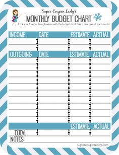 monthly budget chart