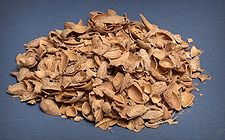 #Almond #shells, with initial moisture around 8-12 %, is a material used as fuel in boilers and sometimes in domestic heating systems and barbacues. Alomand shell is used as #briquettes produced by #briquette #plant #machine