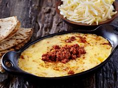 Queso Fundido with Chorizo | Mexican Cheese | Cacique Inc. | Authentic Mexican Cheese