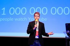 """Maciej Wróblewski from MUSE presenting """"Evolution of Internet video: how brands and publishers can reach digital audience"""""""