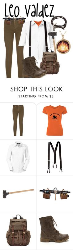 """""""Leo Valdez"""" by aquatic-angel ❤ liked on Polyvore featuring Paige Denim, The North Face, Carhartt and FOSSIL"""