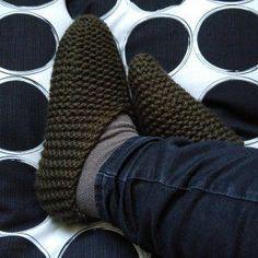 Hausschuhe selbstgestrickt, Stricken, gratis Anleitung, einfach, Wolle, warme Füße1