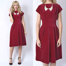 Vintage 50s 60s Red Velvet Cocktail Party Dress Pleated Sheath Mad Men Small S