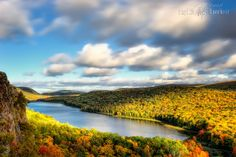 Porcupine Mountains State Park on a cloudy #autumn day #Michigan #fall