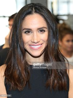 Megan Markle attends the Misha Nonoo fashion show during Mercedes-Benz Fashion Week Fall 2015 the at Center 548 on February 14, 2015 in New York City.